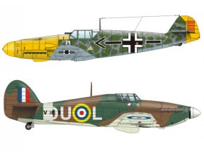 Messerschmitt Bf-109 F-0 + Hurricane Mk-1 (La Manche 1941)