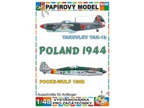 Yakovlev Yak-1b + Focke-Wulf 190D (Poland 1944)