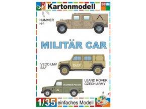 Hummer H-1 + Iveco LMV + Land Rover Czech Army (Vojenská auta)