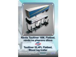 Tautliner Utility 16M / Flatbed / návěs na dřevo