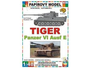 Tiger Panzer VI Ausf E - Kurt Knispel - Rusko 1943