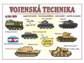 Vojenská technika -- M4 High-speed tractor, Panzer 38(t) AusF. E, PzKfw. III J, Munitionsschlepper 38(t), Wirbelwind, Jagdtiger Porsche, PzKfw. V Panther AusF. D (SdKfz 171)