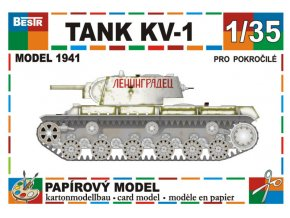 KV-1 model 1941 - zimní verze