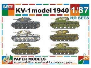 KV-1 model 1940 - 6 různých verzí