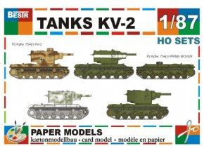 KV-2 - 5 různých verzí