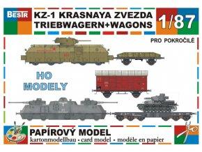 Krasnaja Zvezda + Panzerjägertriebwagen, Panzer IV F1, 15t, Ssyms 80t
