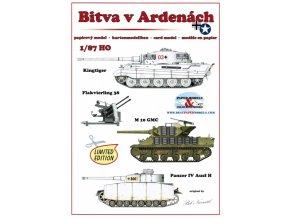 Bitva v Ardenách - Kingtiger (Tiger II Serienturm), Flakcvierling 38, M 10 GMC, Panzer IV Ausf H