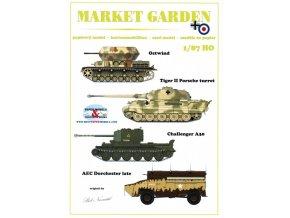 Market Garden - Ostwind, Tiger II Porsche turret, Challenger A30, AEC Sorchester late