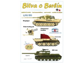 Bitva o Berlín - Kingtiger (Tiger II Serienturm), Flakvierling 38 4×2cm, Flakpanzer V Coelian, ISU-122