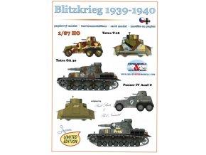 Blitzkrieg 1939-1940 - 2× Tatra TOA 30, 2× Tatra T-18, 2× Panzer IV Ausf C