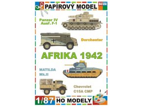 Panzer IV Ausf.F-1 + Dorchester + Matilda Mk.II + Chevrolet C15A CMP (Afrika / Africa 1942)
