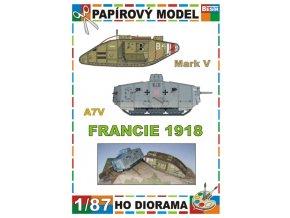 Mark V + A7V (Francie / France 1918)