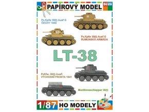 LT-38 Pz.KpfW 38(t) Ausf.G + Pz.KpfW 38(t) Ausf.G + Pz.KpfW 38(t) Ausf.F + Munitionsschlepper 38(t) (LT-38)