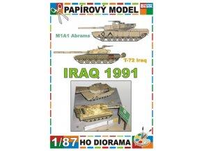 M1A1 Abrams + T-72 Iraq (Irák / Iraq 1991)