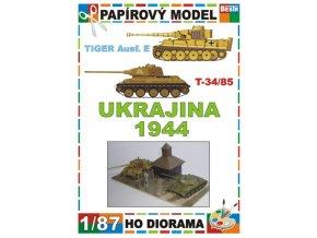 Tiger Ausf.E + T-34/85 (Ukrajina / Ukraine 1944)