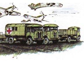 AEC Matador (2x valník, 2x valník s plachtou, 1x sanita) + AEC Matador 6x6 valník