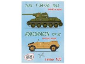 T-34/76 1943 + Kübelwagen typ 82