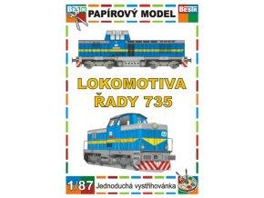 735 - Pilštyk - dieselová lokomotiva řady 735