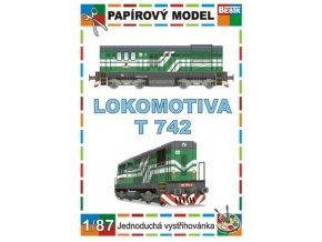 ř. 742 - Kocour - dieselová lokomotiva řady (ex T 466.2)