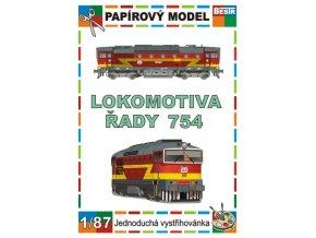 754 - Brejlovec - dieselová lokomotiva (ex T 478.4)