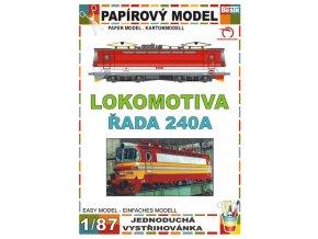ř. 240 - elektrická lokomotiva (S 499.1)
