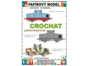 Crochat (T 201) - lokotraktor - 3 verze