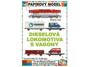 Dieselová lokomotiva s vagony