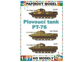 PT-76 - 3 verze - SSSR, Vietnam, DDR