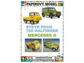 Steyr Puch 700 Haflinger + Mercedes G