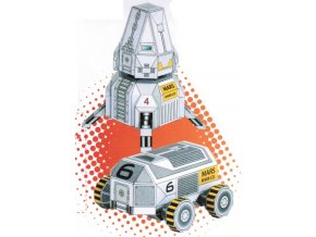 přistávací modul a vozítko Mars Rover