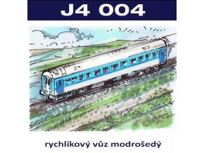 osobní vozy II - rychlíkový vůz modrošedý