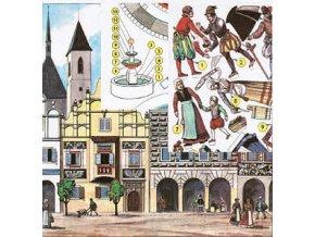 náměstí v 16.stol. + kašna
