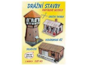 Drážní domek + skladiště + vodárna (Drážní stavby)