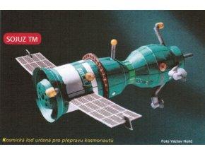 Sojuz TM (zelený) + fotovoltaické sluneční články (33 fialový)
