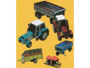 Zetor 16145 + Zetor 10045 + Zetor 8011+ přívěsy + sběrací vůz + secí stroj