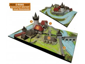 Vývoj hradu - 1417 - komplet - biskupský mětský hrad Hohenburg - pozdní středověk