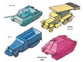 ZIS-6 - Kaťuše + M-2 + T 34-85 + povstalecký tank