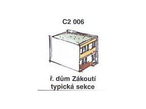 Řadový dům Zákoutí - typická sekce