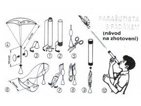 parašutista s padákem
