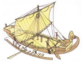 Královna Hatšepsovet - starověká egyptská loď