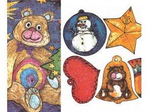 vánoční přání a ozdobičky na dárky