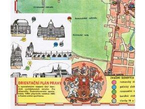 Vycházky Prahou - orientační plán Prahy