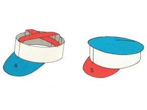 spartakiádní čepice - set 2 ks - plné i křížové  dno