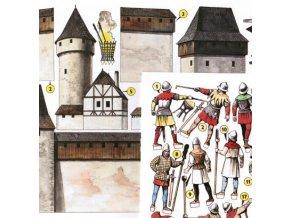 dobývání hradu v 15. stol.