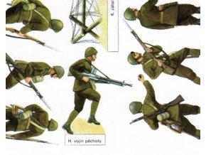 vojáci II.sv.v. - ČSR - pěchota