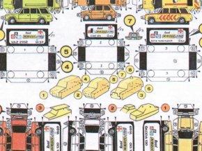 Fiat 126 + VAZ 2102 MTX 1600 RZP/T + VAZ 2102 + 3x Škoda 130