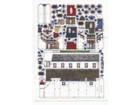domky chudiny čp.19, 20, 21, 22, obranná chodba hradeb