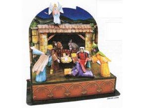 Vánoční pohyblivý betlém