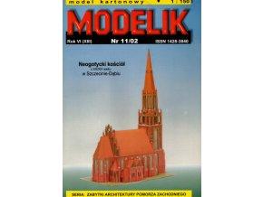 neogotický kostel Szczecin - Dabie