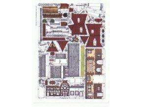 dům čp.16, 18 a hradební zeď